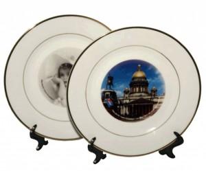 Тарелки с фото, рекламой